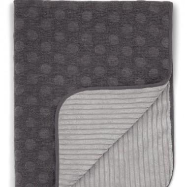 Kocyk tkany 70x90 cm Grey Spot