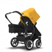 BUGABOO DONKEY2 DUO black/black/sunrise yellow