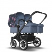 BUGABOO DONKEY2 twin black/blue melange/birds