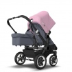 BUGABOO DONKEY2 DUO black/steel blue/soft pink