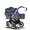 BUGABOO DONKEY2 TWIN alu/steel blue/birds