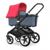 - BUGABOO FOX black/blue melange/neon red