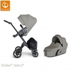 -WÓZEK STOKKE® XPLORY®V6 2W1 black/brushed grey