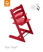 KRZESEŁKO STOKKE® TRIPP TRAPP® red+MUNCH ESSENTIALS GRATIS!