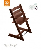 KRZESEŁKO STOKKE® TRIPP TRAPP® walnut brown+MUNCH ESSENTIALS GRATIS!