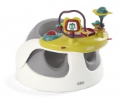 KRZESEŁKO BABY SNUG SOFT GREY+tacka z zabawkami