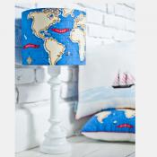 LAMPA STOJĄCA mapa świata