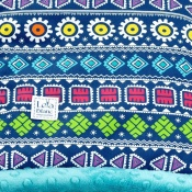 KOCYK LIGHT AZTEC teal 140x110