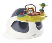 KRZESEŁKO BABY SNUG NAVY+tacka z zabawkami