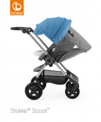 _  WÓZEK STOKKE® SCOOT™ black melange/blue