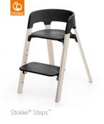 KRZESEŁKO STOKKE® STEPS™ whitewash/black
