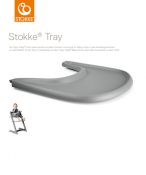 TACKA STOKKE® TRAY storm grey