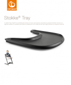 TACKA STOKKE® TRAY black