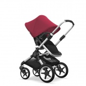 - BUGABOO FOX 2W1 alu/black/ruby red