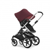 - BUGABOO FOX 2W1 alu/black/red melange