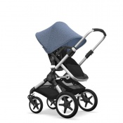 - BUGABOO FOX 2W1 alu/black/blue melange
