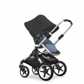 - BUGABOO FOX 2W1 alu/blue melange/black