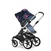 - BUGABOO FOX 2W1 alu/blue melange/birds