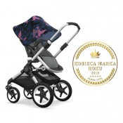 - BUGABOO FOX 2W1 alu/grey melange/birds