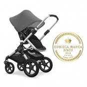 - BUGABOO FOX 2W1 alu/black/grey melange