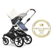 - BUGABOO FOX 2W1 alu/blue melange/fresh white