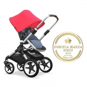 - BUGABOO FOX 2W1 alu/blue melange/neon red
