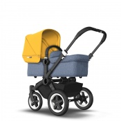 BUGABOO DONKEY2 MONO black/blue melange/sunrise yellow