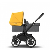 BUGABOO DONKEY2 MONO black/grey melange/sunrise yellow