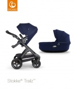 _WÓZEK STOKKE® TRAILZ™ 2W1 black/deep blue