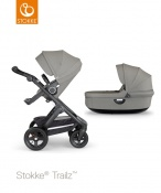_WÓZEK STOKKE® TRAILZ™ 2W1 black/brushed grey