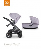 _WÓZEK STOKKE® TRAILZ™ 2W1 black/brushed lilac