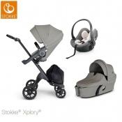 -WÓZEK STOKKE® XPLORY®V6 2W1 black/brushed grey +fotelik gratis!