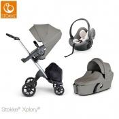 -WÓZEK STOKKE® XPLORY®V6 2W1 brushed grey +fotelik gratis!