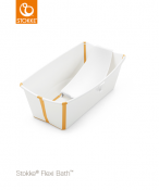 _  WANIENKA STOKKE® FLEXI BATH™ white yellow + wkład