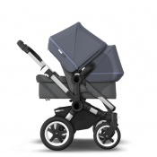 BUGABOO DONKEY2 DUO alu/grey melange/steel blue