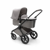 _   BUGABOO FOX 2W1 black/mineral light grey