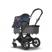 _   BUGABOO CAMELEON 3 PLUS black/grey melange/birds