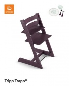KRZESEŁKO STOKKE® TRIPP TRAPP® plum purple+MUNCH ESSENTIALS GRATIS!