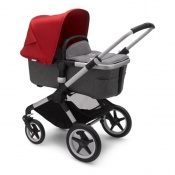 BUGABOO FOX2 alu/grey melange/red
