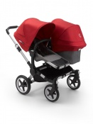 BUGABOO DONKEY3 DUO alu/grey melange/red