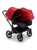 BUGABOO DONKEY3 DUO black/black/red