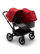 BUGABOO DONKEY3 DUO black/grey melange/red