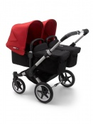 BUGABOO DONKEY3  TWIN alu/black/red