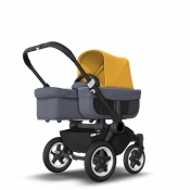 BUGABOO DONKEY2 MONO black/steel blue/sunrise yellow