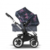BUGABOO DONKEY2 DUO alu/steel blue/birds