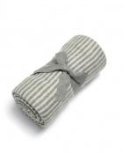 KOCYK BAWEŁNIANY 70X90CM grey&white stripe